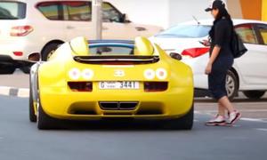 Bugatti Veyron mimt Uber-Taxi
