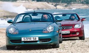 Mercedes SLK 320 vs. Porsche Boxster S: Classic Cars