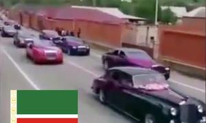 Rolls-Royce-Parade in Tschetschenien