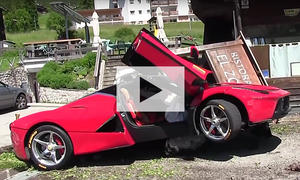 Ferrari LaFerrari gecrasht: Video