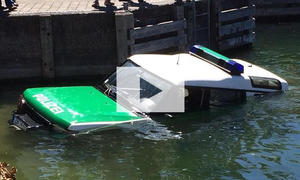 Polizeiauto im Bodensee: Video