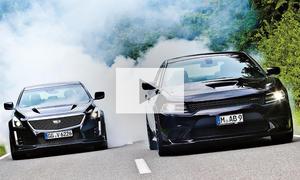 Cadillac CTS-V/Dodge Charger SRT Hellcat: Video