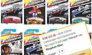 """Hot Wheels-Modellautos von """"The Fast and the Furious"""""""
