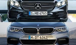 Mercedes-AMG E 43 und BMW M550i xDrive