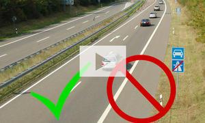 Fahren auf dem Standstreifen: Video