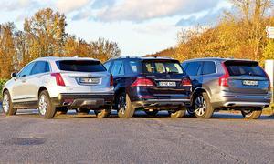 Cadillac XT5 3.6 V6 AWD, Volvo XC 90 T6 AWD, Mercedes GLE 400 4Matic