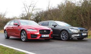 Jaguar/Volvo Vergleichstest