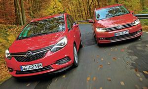 Opel Zafira 2.0 CDTI und VW Touran 2.0 TDI SCR