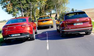 VW Touareg/Mercedes GLE Coupé/Audi Q8