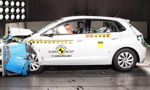 VW Polo 6 (2017) im Crashtest
