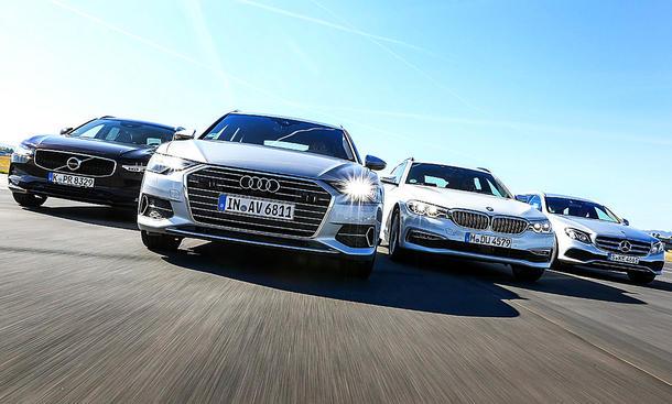 Audi A6 Avant/BMW 520 d/Mercedes E 220 d/Volvo V90