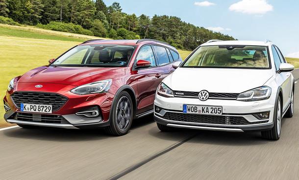 Ford Focus Active Turnier/VW Golf Alltrack: Vergleichstest
