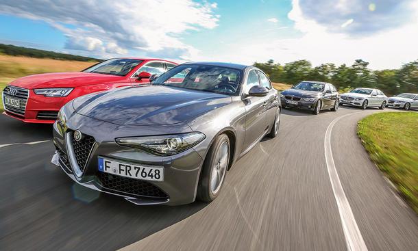 Alfa Giulia im Vergleichstest