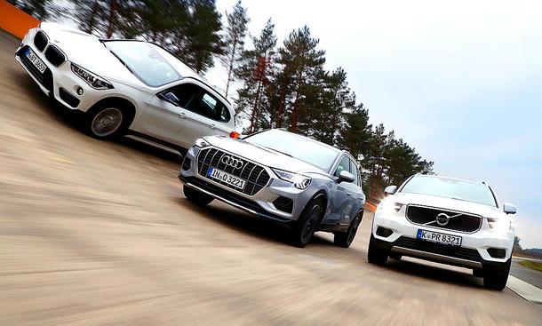 BMW X1/Audi Q3/Volvo XC40: Test