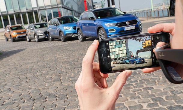 Dacia Duster/Hyundai Kona/Opel Crossland X/VW T-Roc