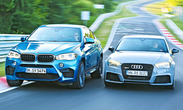 BMW X6 M/Audi RS 3