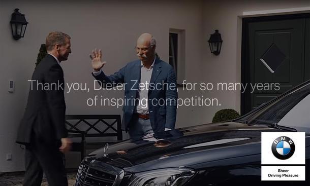BMW verabschiedet Daimler-Chef Dieter Zetsche
