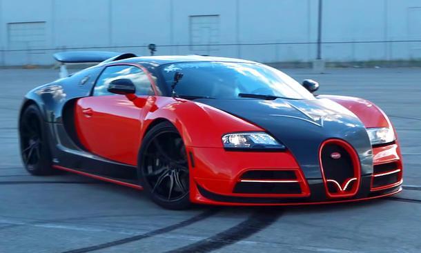 Bugatti Veyron mit Heckantrieb