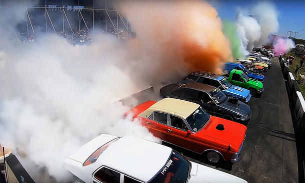 Burnout-Weltrekord