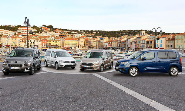 Citroën Berlingo/VW Caddy/Ford Tourneo/Opel Combo: Test