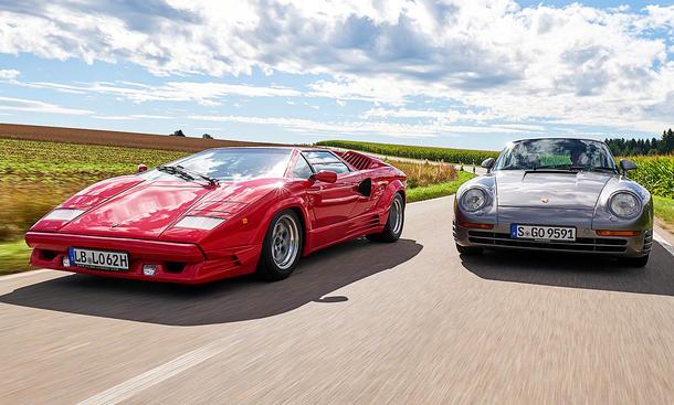 Lamborghini Countach/Porsche 959: Classic Cars
