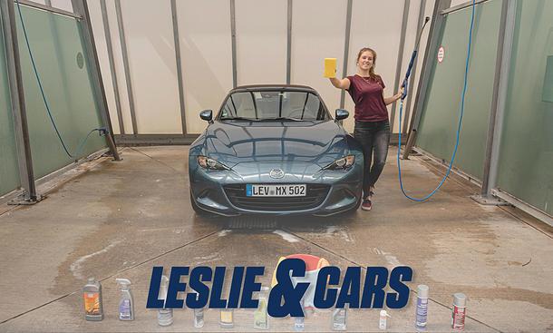 Cabrio waschen & pflegen (Tutorial): Leslie & Cars