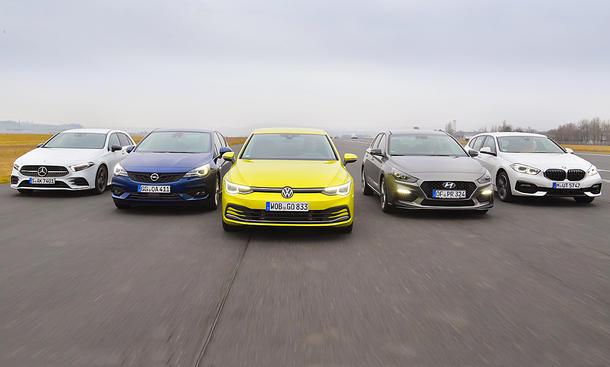 Mercedes A-Klassea/Opel Astra/VW Golf/Hyundai i30/BMW 1er