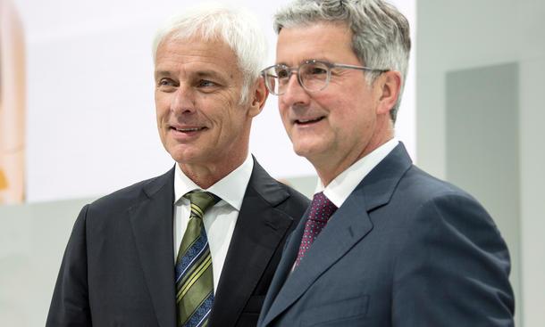 VW-Chef Müller und Audi-Chef Stadler