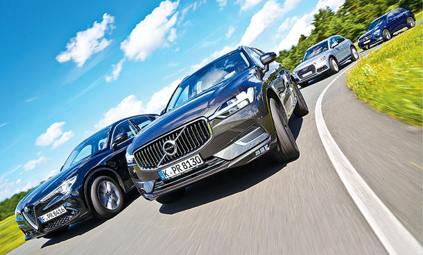 Alfa Romeo Stelvio/Audi Q5/Volvo XC60/Mercedes GLC