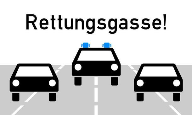 Rettungsgasse bilden 2017