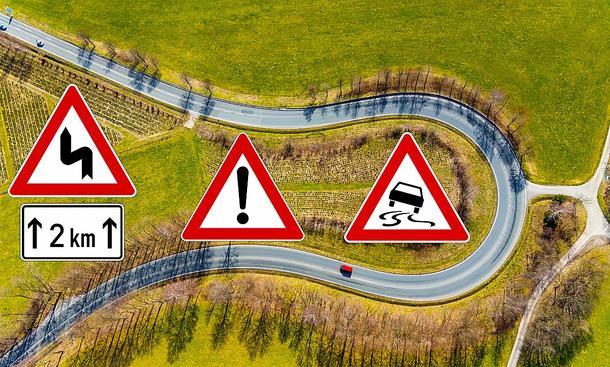 Unfall auf kurviger Landstraße