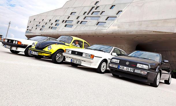 VW Scirocco I, VW Käfer 1303 S, VW Scirocco II, VW Corrado G60