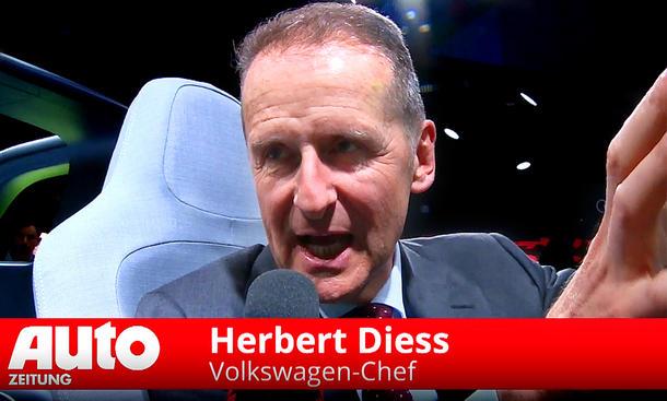 VW-Chef Herbert Diess im Interview