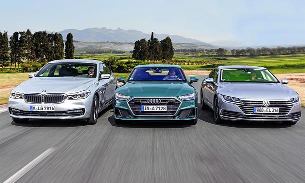 BMW 630d, Audi A7 TDI, VW Arteon TDI