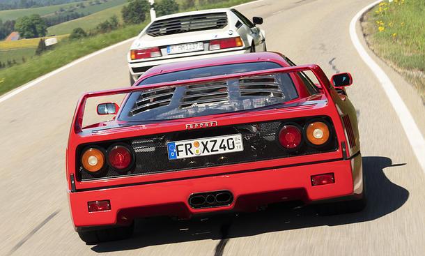 BMW M1/Ferrari F40: Vergleich