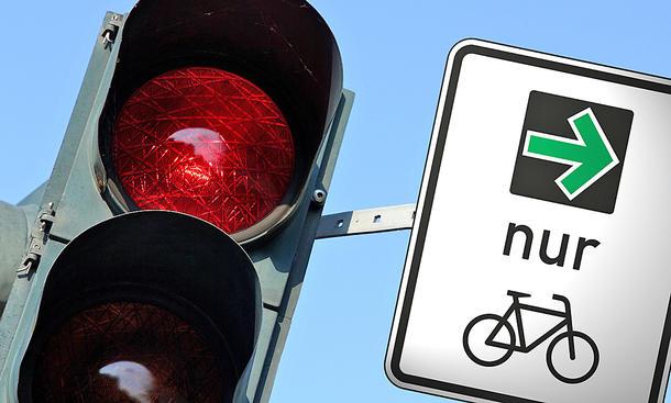 Grünpfeil nur für Radfahrer