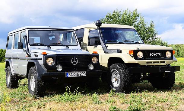 Mercedes G-Modell/Toyota Land Cruiser: Vergleich
