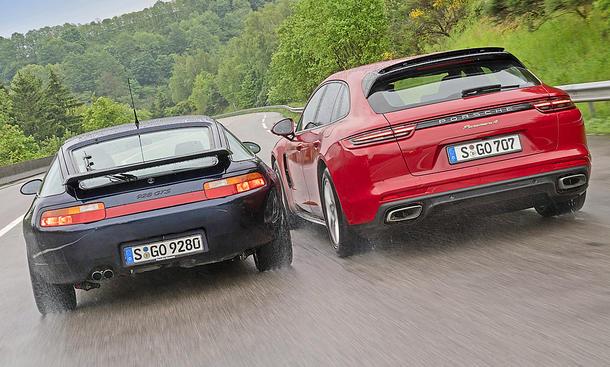 Porsche 928 GTS/Porsche Panamera 4 E-Hybrid Sport Turismo