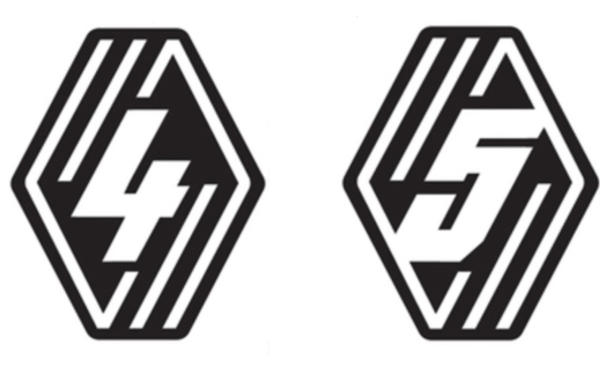 Renault 4Ever- & Five-Logo