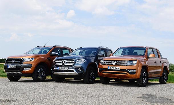 Ford Ranger/Mercedes X-Klasse/VW Amarok im Test