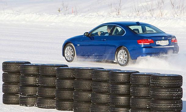 Winterreifentest Powercar Reifentest im BMW 330i Coupe