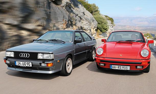 Audi quattro 20V Porsche 911 Carrera 3.2 Vergleich Bilder technische Daten