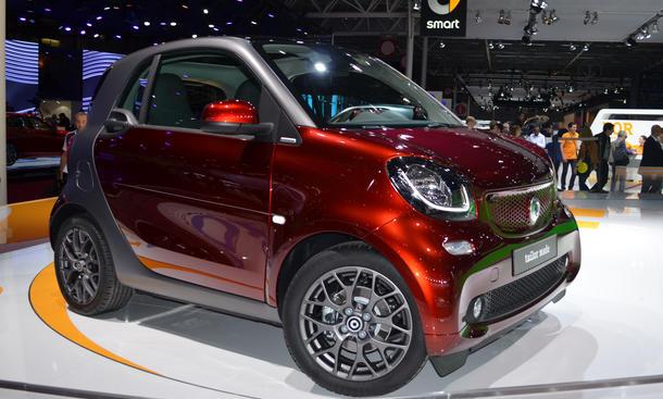 Smart Fortwo 2014 Pariser Autosalon Bilder Live Innenraum Kleinstwagen