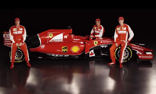 2015 Ferrari SF15-T Fotos Rennwagen enthuellt Sebastian Vettel