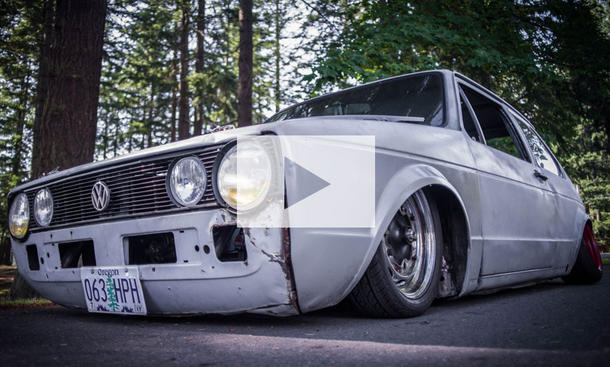 VW Golf I Tuning-Ratte: Video