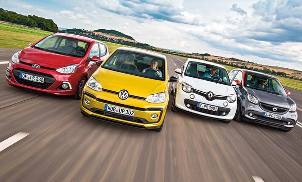 Hyundai i10/VW Up/Renault Twingo/Smart Forfour: Vergleich