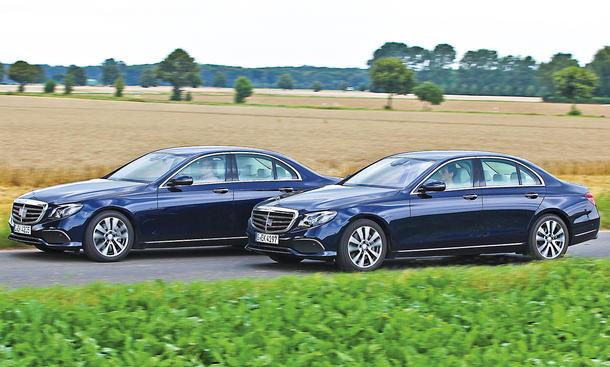Mercedes E-Klasse: Benziner gegen Diesel
