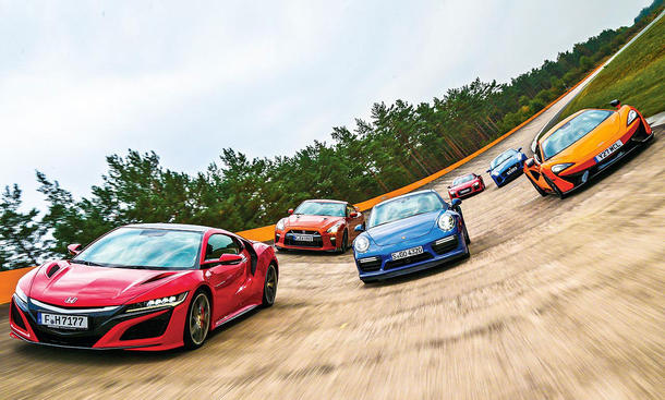 NSX/F-Type/570S/GT-R/911 Turbo/R8 V10 plus
