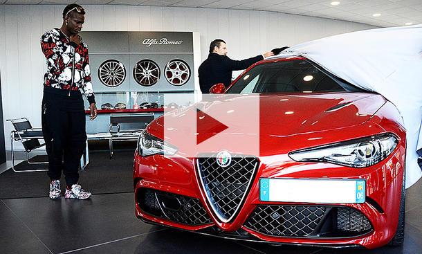 Mario Balotelli kauft Alfa Romeo Giulia QV: Video