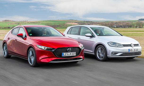 Mazda 3/VW Golf: Test